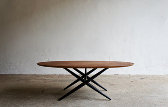 1950'S OVALETTE COFFEE TABLE BY ILMARI TAPIOVAARA FOR ASKO