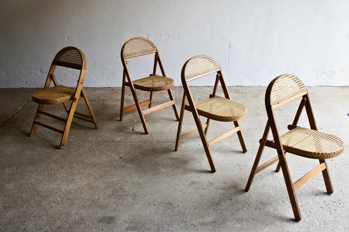 HAND MADE CANE FOLDING CHAIRS