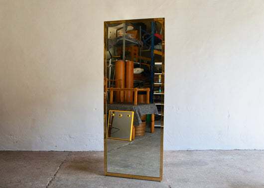FULL SIZE BRASS MIRROR