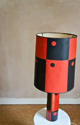 1950'S BLACK AND RED LAMP