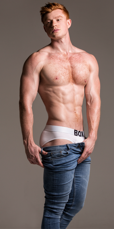 Josh Brigham Flexes In Jeans And Briefs