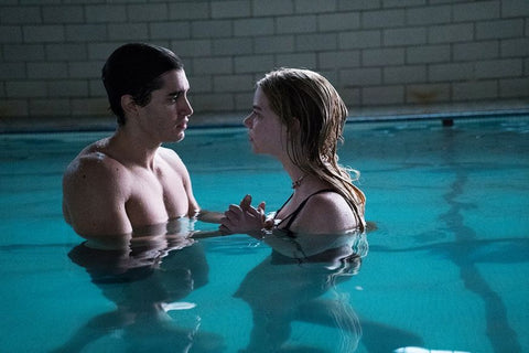 Henry Zaga and Ana Taylor-Joy naked in a swimming pool
