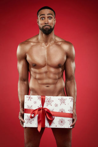 Ashley Banjo naked with present over his privates