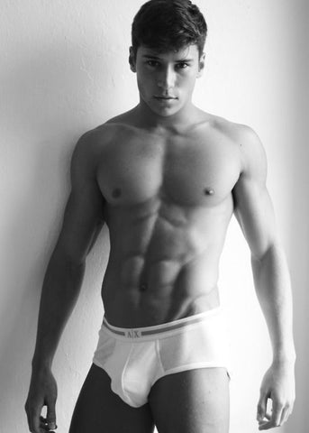 Mens white trunks underwear