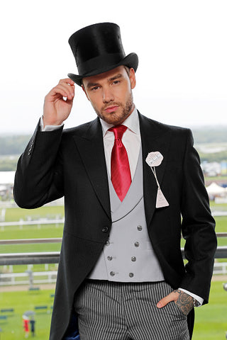 Liam Payne in top hat and tails
