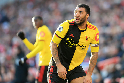 Troy Deeney on pitch in Watford kit