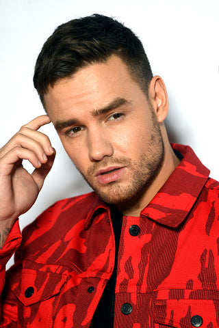 Liam Payne red patterned jacket