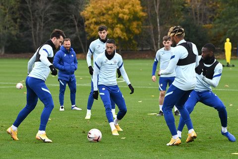 Chelsea FC Squad Training in Nike Tracksuits