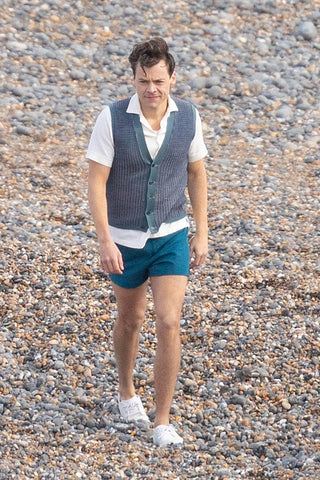 Harry Styles short shorts my policeman filming