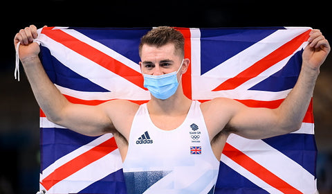 Max whitlock with vest and union jack flag