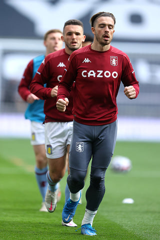 Jack Grealish Warms up with team mates