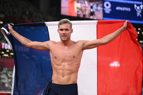 kevin mayer topless with flag