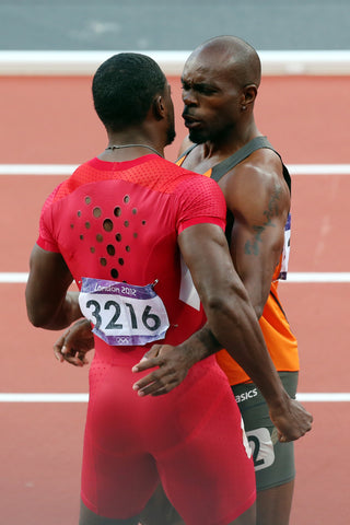Justin Gatlin Showing Off His Jockstrap