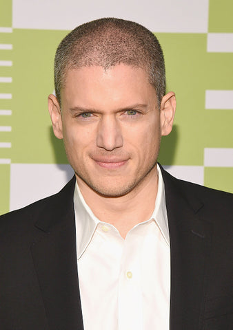 wentworth miller with shirt and black jacket
