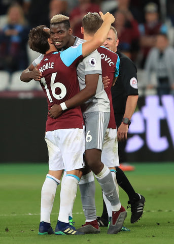 Paul-Pogba-Mark-Noble-West-Ham-Hug-Friends