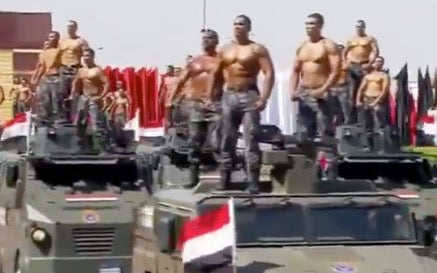 Half Naked Egypt in Gay Parade