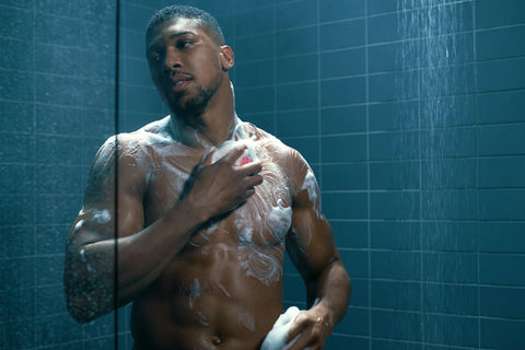 anthony joshua shower