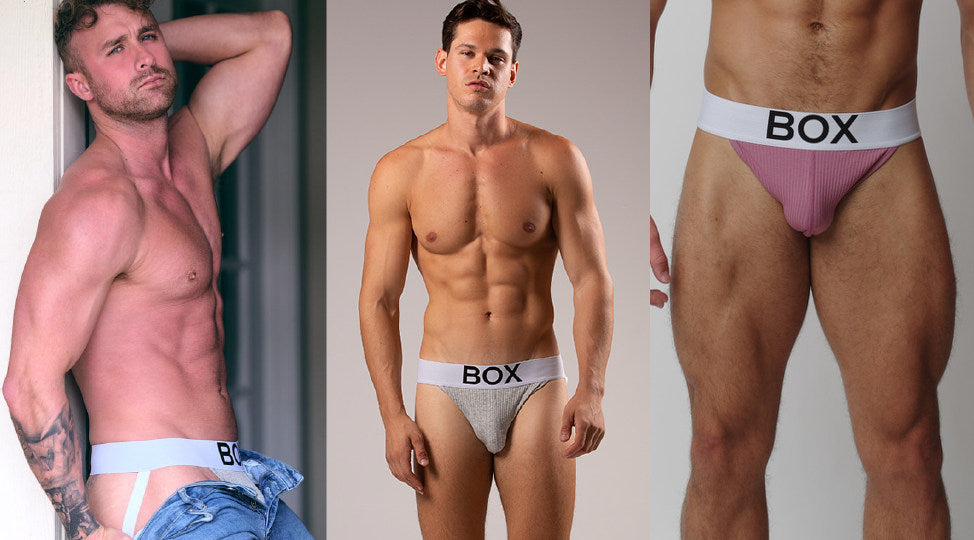 Three ribbed jocks with white wasitbands