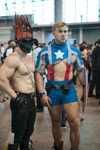 cosplay captain america and ghost rider