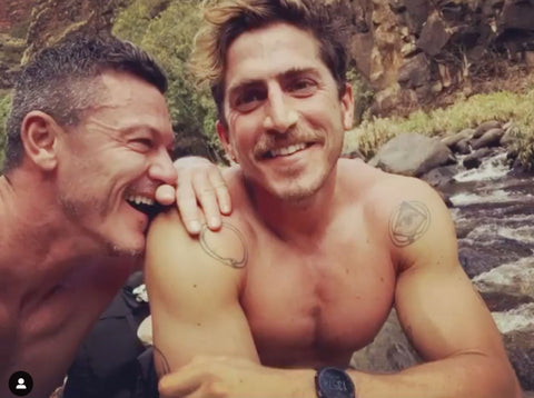 luke evans and boyfriend rafa olarra topless