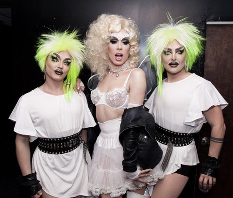 boulet brothers green wig alaska thunderfuck in white