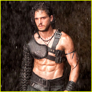 Kit Harrington in roman garb abs and muscles