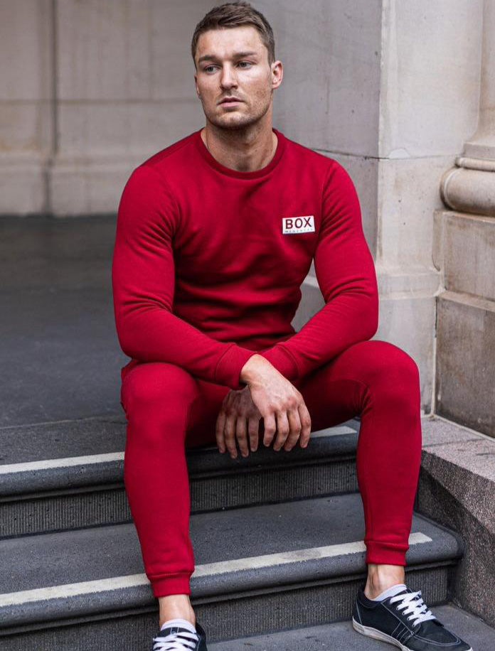 Fleece Jogging Bottoms - Dark Red
