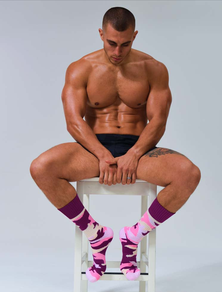 Box Sports Socks - Pink Camo