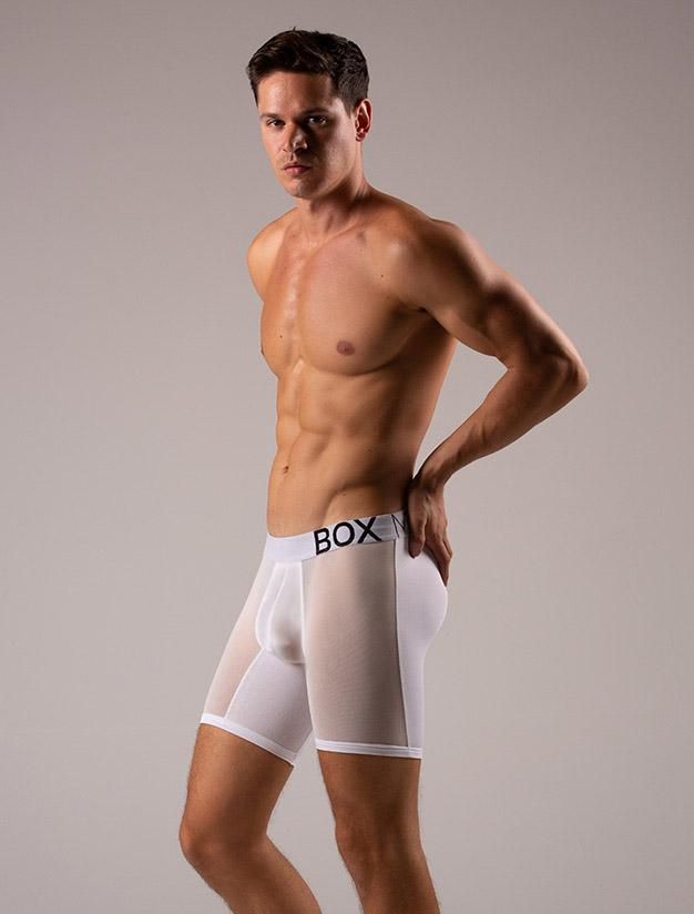 Andrea Moscon Bulge boxer shorts briefs Transparent Crotch Transparent Mesh Leg Panels