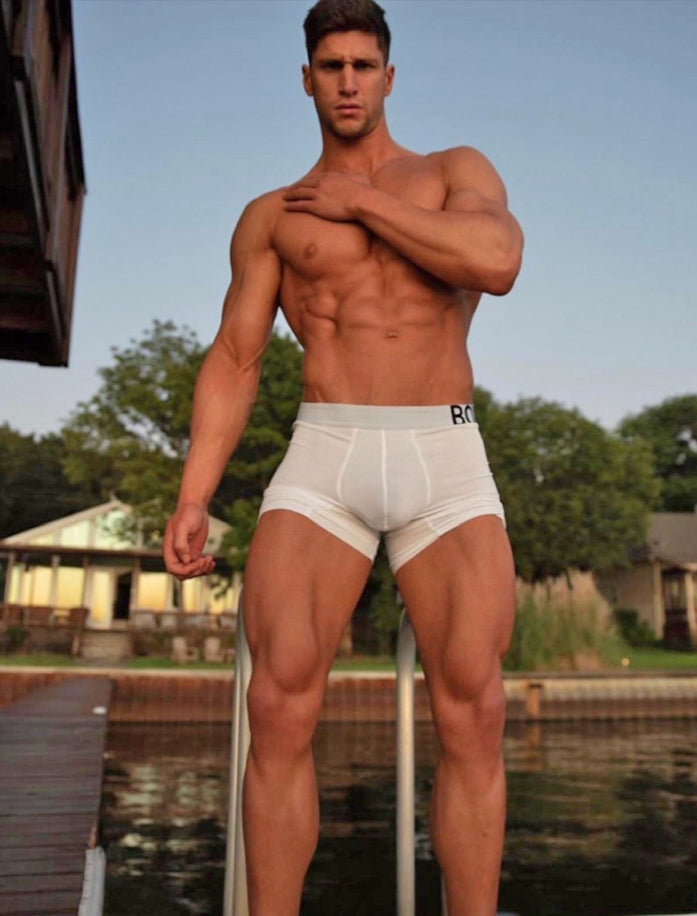 Kyle Hynick Boardwalk Lake Transparent White King Fit Boxers Bulge
