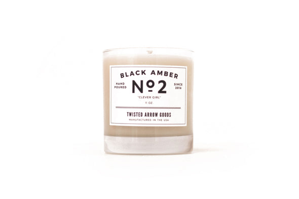 BLACK AMBER NO. 2 - SOY CANDLE-Twisted Arrow Goods