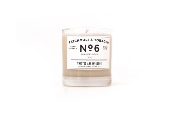 PATCHOULI & TOBAC NO. 6 - SOY CANDLE-Twisted Arrow Goods