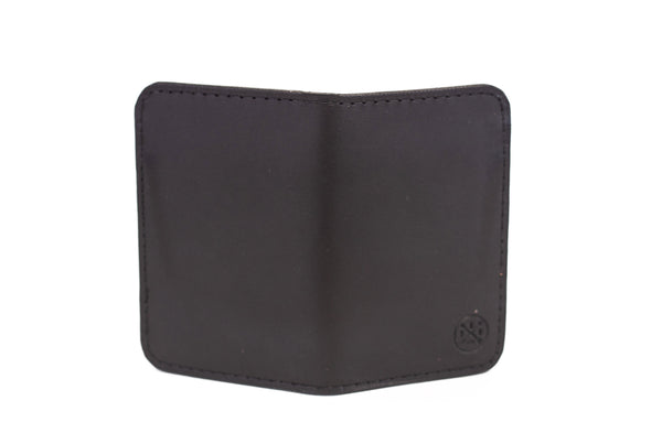 QUINTON VERTICAL BIFOLD WALLET - BLACK