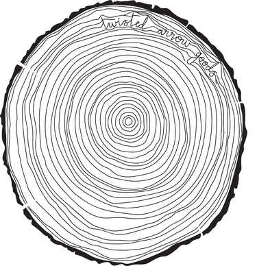 TREE RINGS - STICKER-Twisted Arrow Goods