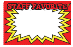 Pricing Cards - Staff Favorite Red (100 Pk)