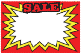 Pricing Cards - Sale Red (100 Pk)