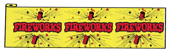Fireworks Table Bunting