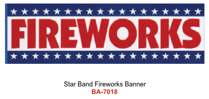 Star Band Fireworks Banner