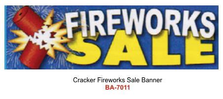 Cracker Fireworks Sale Banner