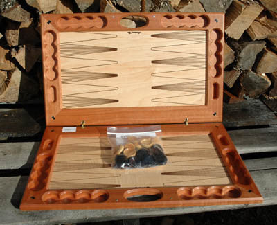 Canadian Handcarved Wooden Backgammon Set
