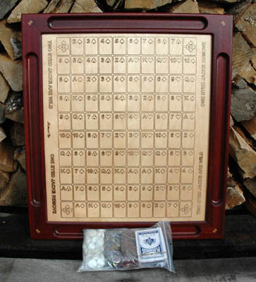 Canadian Handmade Wooden Sequence Game