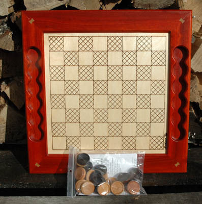 Canadian Handmade Wooden Chess/Checkers Game