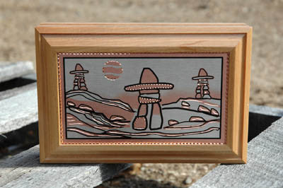 Inuksuk Wooden Box