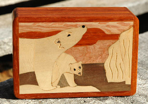 Marquetry Polar Bear Box