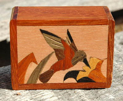 Marquetry Hummingbird Box