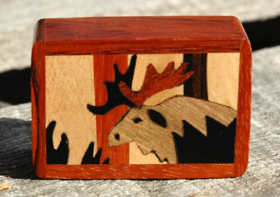 Moose Marquetry Box