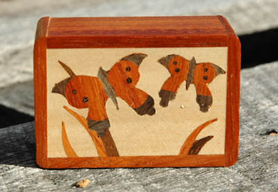 Butterfly Design Marquetry Box