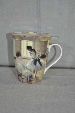 Edgar Degas 'Dance Lesson' Tea Mug With Lid