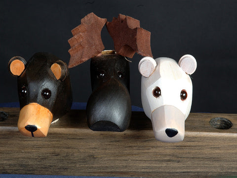 Canadian Handcrafted Animal Wine Corks