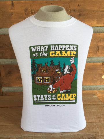 """What Happens At Camp"" T-shirt"